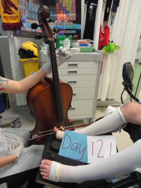 Cello on Day 121